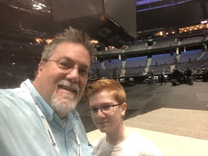 David Brodosi and his son at conference