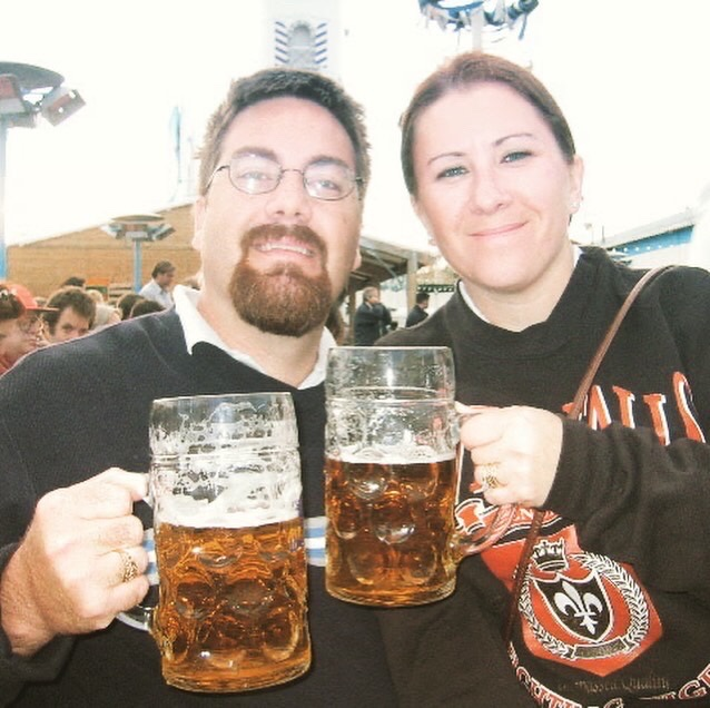 David Brodosi and wife in Germany