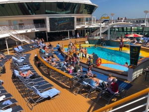 David Brodosi and family on a cruise ship heading to Mexico