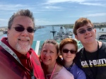 David Brodosi and his family on cruise ship