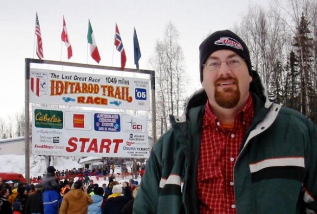 David Brodosi in Anchorage Alaska by the sea