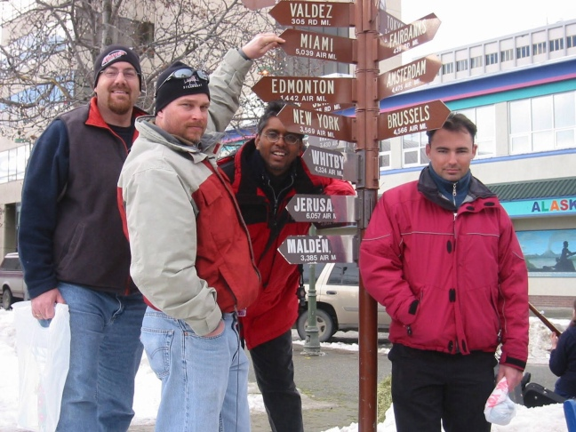 David Brodosi in downtown Anchorage Alaska.