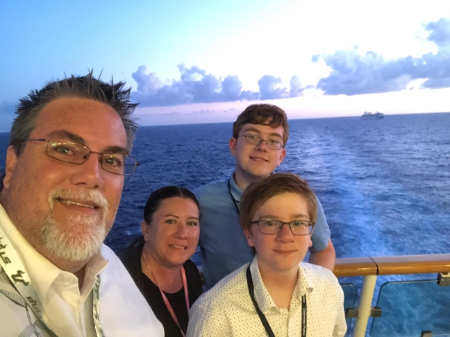 David Brodosi and family on a cruise to Mexico