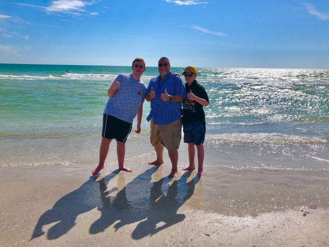 David brodosi and family enjoying the beach in sunny Florida