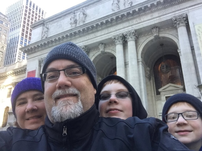 David Brodosi and family visiting New York City