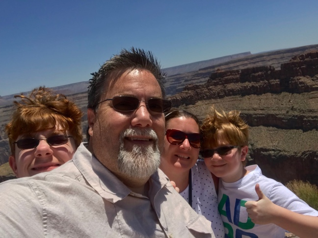 David brodosi and family travel to Grand Canyon