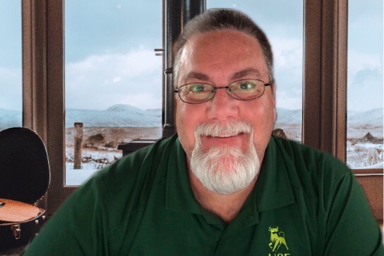 A photo of David Brodosi in his remote office