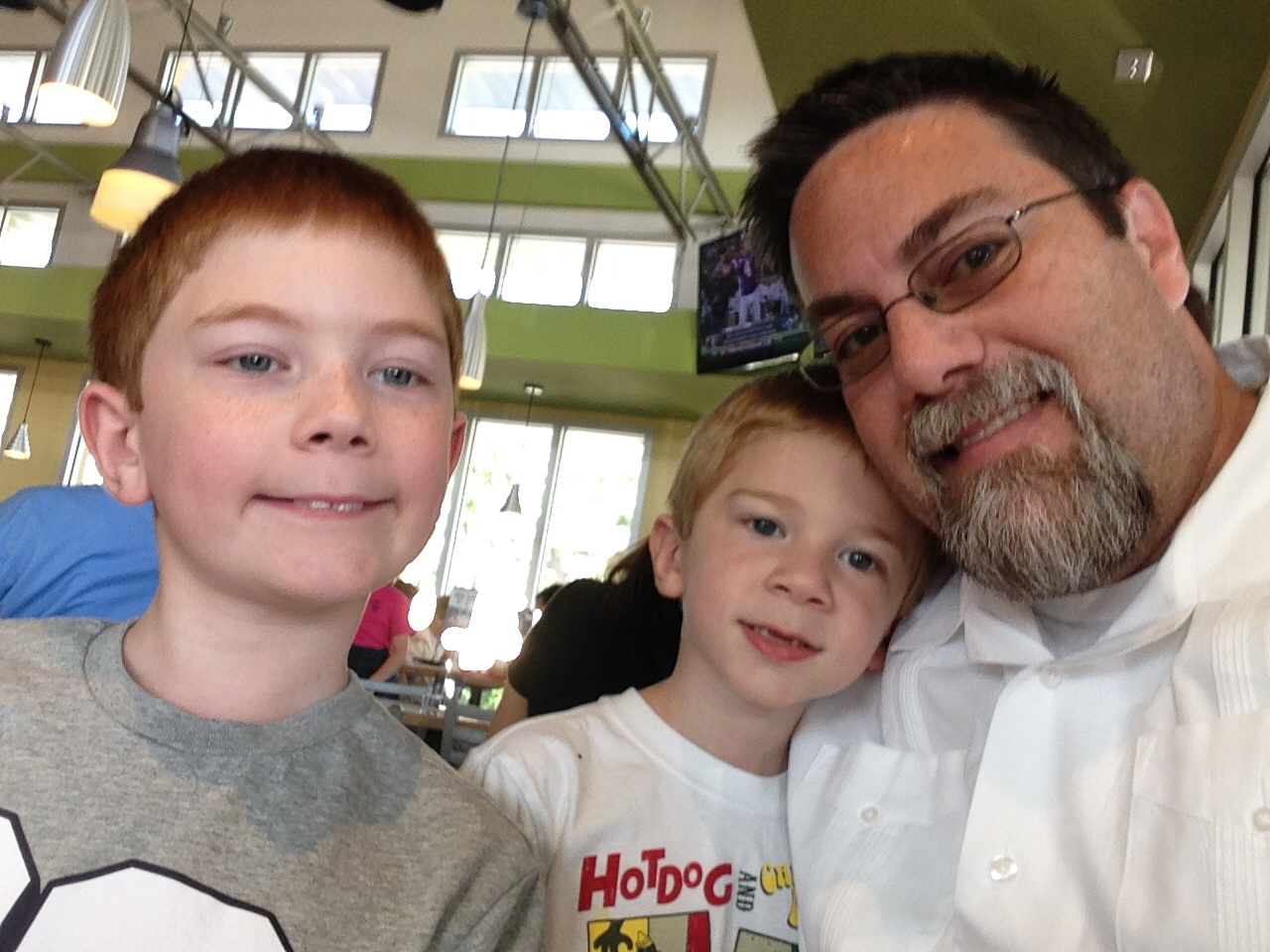 A photo of David Brodosi hanging out with his two sons