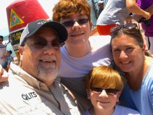 A photo of David Brodosi and his family in Key West
